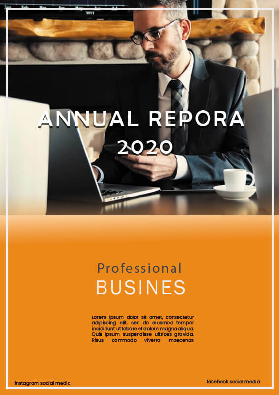 Annual Report in photoshop