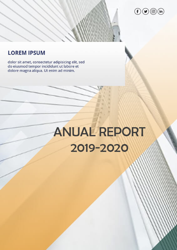 Annual Report psd templates