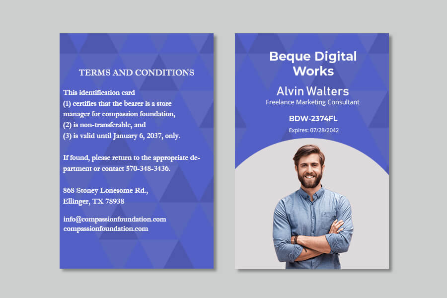 ID Card in photoshop