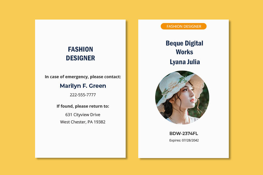 ID Card templates for photoshop