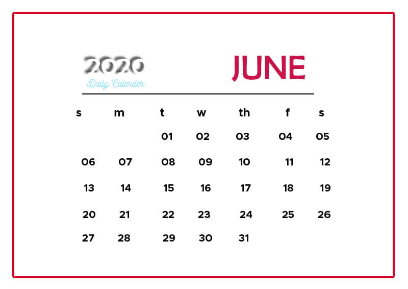 daily calender psd templates