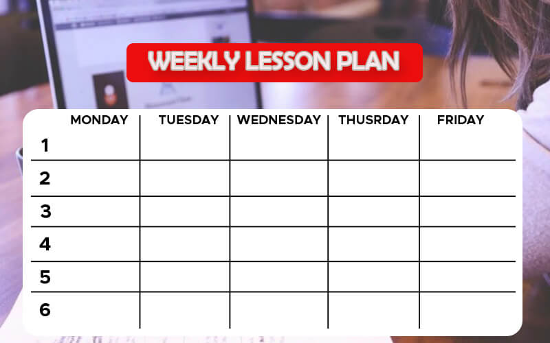 weekly lesson plan example psd design