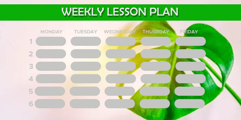 weekly lesson plan psd templates