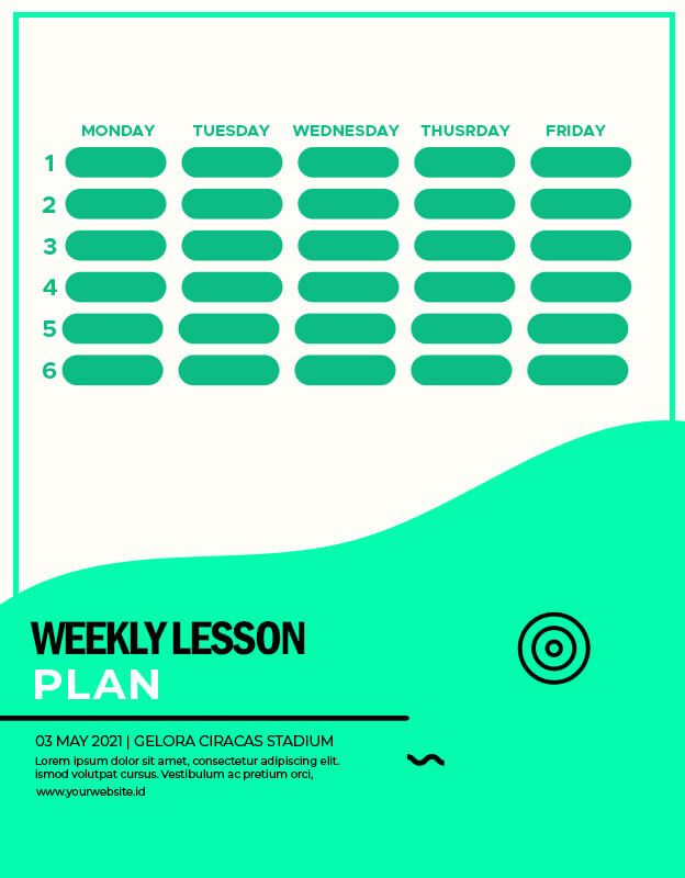 weekly lesson plan templates for photoshop