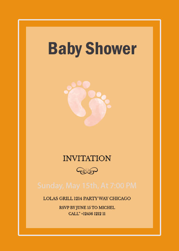 Baby Invitation example psd design