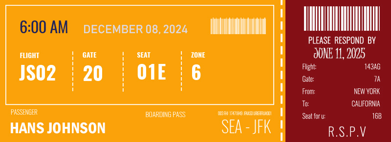 Boarding Pass in psd design