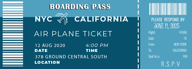 Boarding Pass templates for photoshop