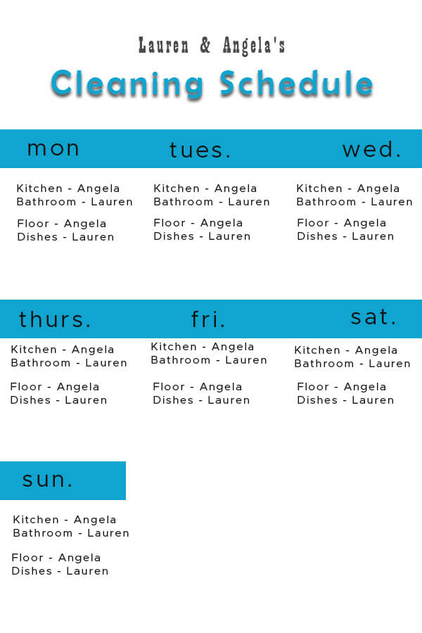 Cleaning Schedule customizable psd design templates