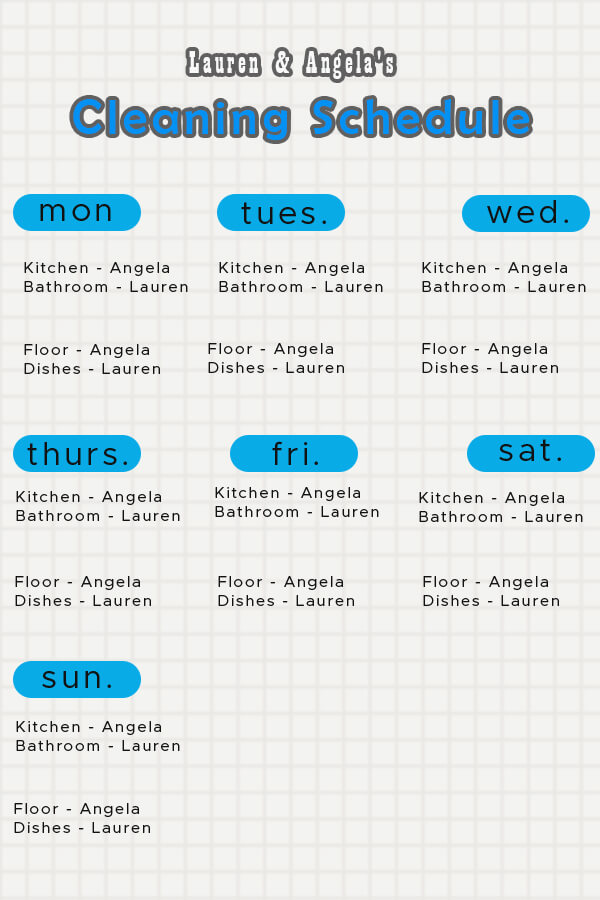 Cleaning Schedule psd templates