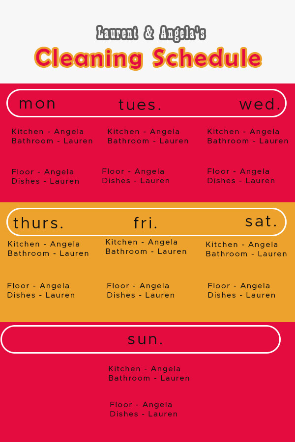 Cleaning Schedule psd