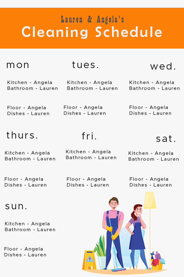 Cleaning Schedule templates psd