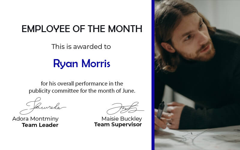 Employee of the Month in photoshop