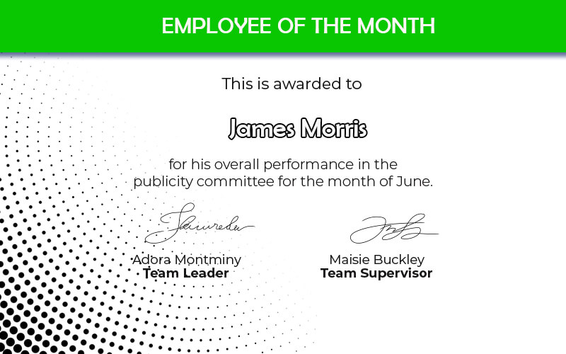 Employee of the Month templates for photoshop