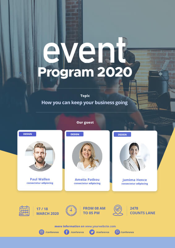 Event Program templates for photoshop
