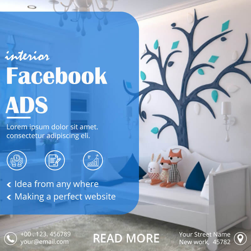 Facebook Ad templates for photoshop
