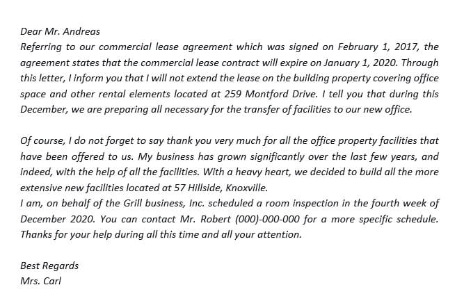 31. How to Make A Commercial Lease Termination Letter to Landlord With Examples
