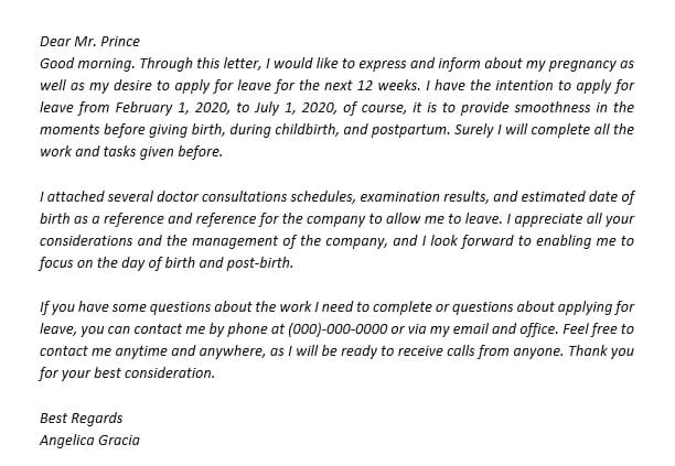 36. Use Maternity Leave Letter to Employer to Apply for Your Maternity Leave