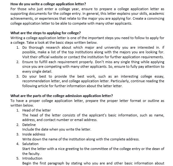 7 How to Write A Scholarship Application Letter