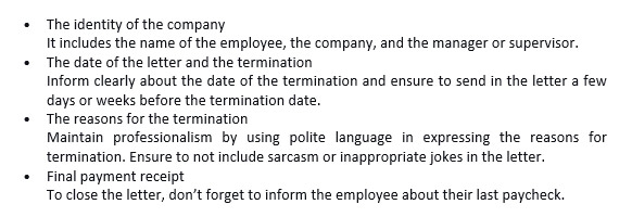 90 What is termination letter due to lack of work