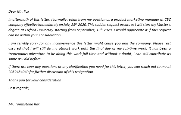 141.Resignation from Full Time to Part Time