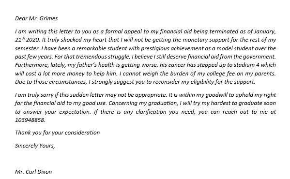 142.Financial Aid Appeal due to Maximum Time Frame